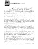Văn bản  hưỡng dẫn số 1 dành cho nhân viên liên hợp quốc trong trường hợp xảy ra đai dịch cúm gia cầm