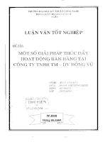 Một số giải pháp thúc đẩy hoạt động bán hàng tại công ty TNHH TM-Hồng Vũ.pdf