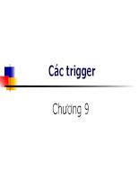 Các trigger - bài giảng