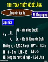 Công nghệ xử lý nước thải - Chương 22: Bể lắng.ppt
