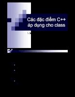 Các đặc điểm C++ áp dụng cho class
