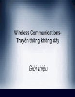 Wireless Communications - Truyền thông không dây