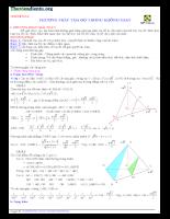 Luyện thi đại học phương pháp tọa độ trong không gian