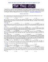 Một số bài tập hóa học sử dụng biện luận (Đề Thi thử Đại học 2012)