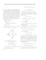 Chứng minh bất đẳng thức bằng phương pháp hình học