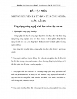 NHỮNG NGUYÊN LÝ CƠ BẢN CỦA CHỦ NGHĨA MÁC- LÊNIN Ứng dụng công nghệ sinh học trên cây cao su..DOC