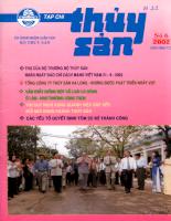 Tài liệu Tạp chí Thủy Sản 6.2002 - Nuôi tôm nước ngọt ở Trung Quốc.pdf