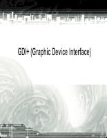 GDI+ (Graphic Device Interface)