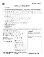 Giáo án môn toán lớp 7