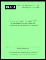 Ước lượng ảnh hưởng của việc tăng giá điện lên chi tiêu hộ gia đình và toàn bộ nền Kinh tế.pdf