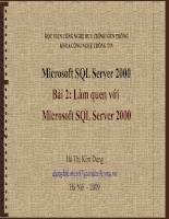 Bài giảng cài đặt cấu hình SQL