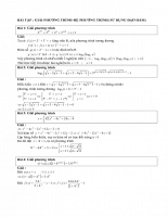 Sử dụng đạo hàm trong giải phương trình và hệ phương trình