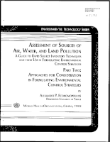 Assessment of source of air, water, and land pollution