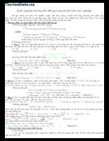 Phương pháp giải bài tập trắc nghiệm môn Hóa
