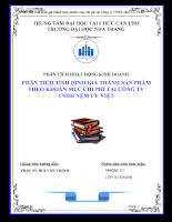 Phân tích tình hình giá thành theo khoản mục chi phí tại Công ty TNHH nệm ƯU VIỆT.doc