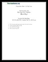 800 Câu hỏi trắc nghiệm hóa học 12