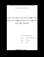 báo cáo thực tập tốt nghiệp tại công ty tnhh sản xuất và thương mại việt thành.doc