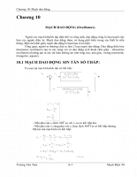 Mạch điện tử - chương 10 - Mạch dao động