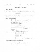 Giáo khoa hóa hữu cơ: Este
