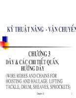 Kỹ thuật nâng - vận chuyển - Chương 3