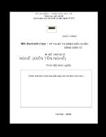 Giáo trình Kỹ thuật tự động điều khiển bằng điện tử