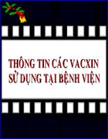 Vaccin sử dụng tại bệnh viện (69 slide)