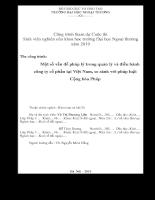 Một số vấn đề pháp lý trong quản lý và điều hành công ty cổ phần tại Việt Nam và so sánh với pháp luật Cộng Hòa Pháp.pdf