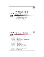 Kỹ thuật số Digital Electronis - Chương 1
