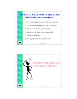 Tài liệu marketing căn bản - chương 1