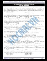 Tài liệu ôn tập 4: bài toán về áp suất và chất khí