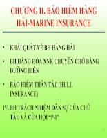 Slide bài giảng Vận tải và Bảo hiểm của cô Hoàng Thị Đoan Trang-FTU - Chương 2 Bảo hiểm