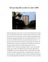 Kết quả tổng điều tra dân số và nhà ở 2009