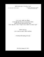 Tài liệu bồi dưỡng giáo viên giảng dạy môn Hóa học THPT