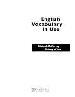 Cambridge University Press - English Vocabulary In Use - Upper-Intermediate & Advanced-( English Course) (Grammar)
