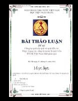Công ty quản lý quỹ và quỹ đầu tư Thực trạng các công ty quản lý quỹ trên thị trường chứng khoán Việt Nam thời gian qua-học viện ngân hàng