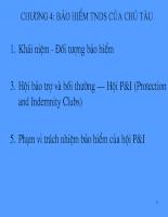 Slide bài giảng bảo hiểm của CN17C - Chương 4