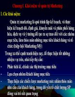 Chương 1. Khái niệm về quản trị Marketing