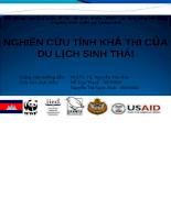 Nghiên cứu tính khả thi của du lịch sinh thái_Campuchia