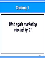 Bài giảng quan tri marketing 01