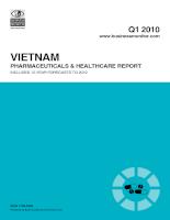 Báo cáo ngành dược và chăm sóc sức khỏe việt nam 2010, dự báo đến 2019
