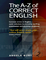 Howto Books The A-Z Of Correct English