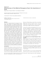 Effectiveness of the Medical Emergency Team: the importance of dos