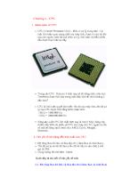Tổng quan về máy vi tính - Chương 4