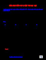 Hóa học hữu cơ luyện thi đại học