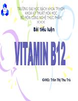 Lợi ích tác hại cách sử dụng của vitamin b12