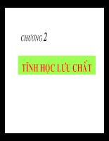 Bài giảng cơ lưu chất - Chương 2