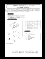 Hướng dẫn lắp đặt và sử dụng phụ kiện trên xe ô tô TOYOTA VIOS - P6