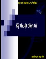 Bài giảng Kỹ thuật điện tử ( Nguyễn Duy Nhật Viễn )