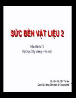 Giáo trình sức bền vật liệu 2 - Chương 11