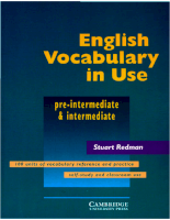 Cambridge University Press English Vocabulary In Use (Pre & Intermediate) 1997